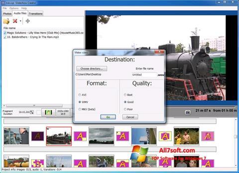 Skjermbilde Bolide Slideshow Creator Windows 7