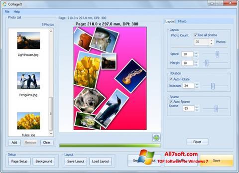 Skjermbilde CollageIt Windows 7