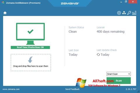 Skjermbilde Zemana AntiMalware Windows 7