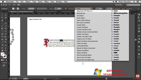 Skjermbilde Adobe Illustrator Windows 7