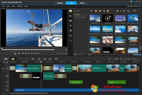 Skjermbilde Corel VideoStudio Windows 7