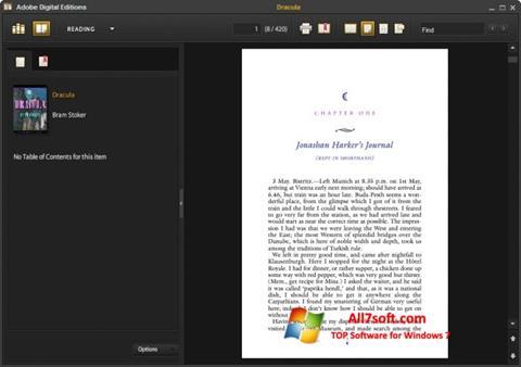 Skjermbilde Adobe Digital Editions Windows 7
