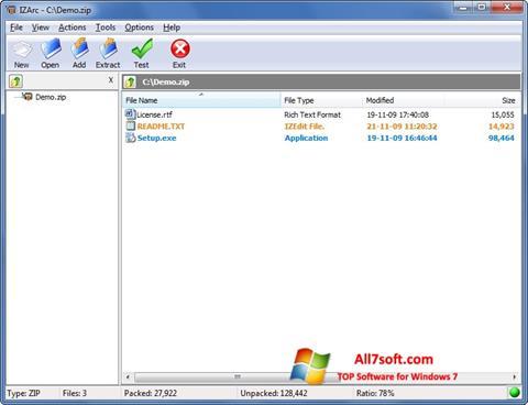 Skjermbilde IZArc Windows 7