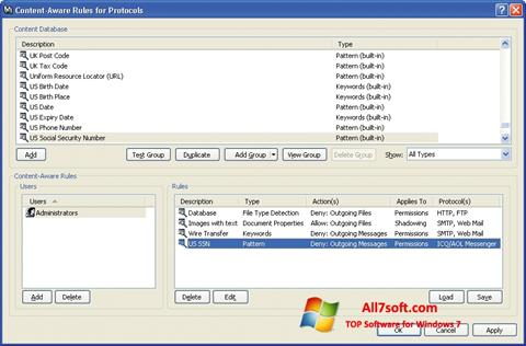 Skjermbilde DeviceLock Windows 7