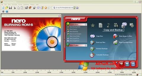 Skjermbilde Nero Burning ROM Windows 7