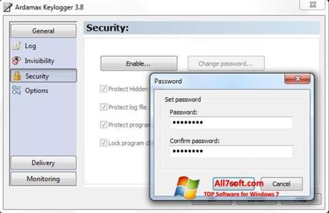 Skjermbilde Ardamax Keylogger Windows 7