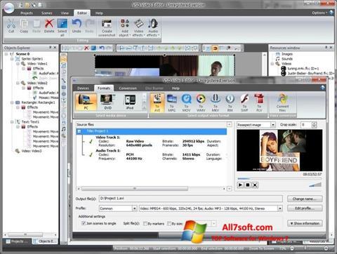 Skjermbilde Free Video Editor Windows 7