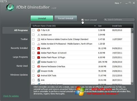 Skjermbilde IObit Uninstaller Windows 7