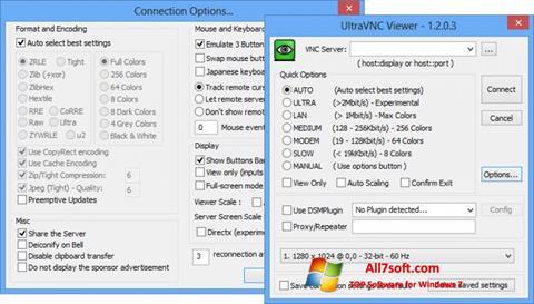 Skjermbilde UltraVNC Windows 7