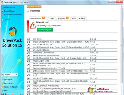 Skjermbilde DriverPack Solution Windows 7