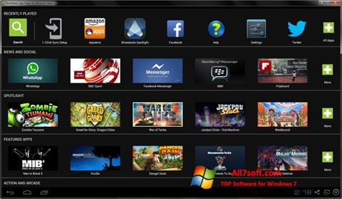 Skjermbilde BlueStacks Windows 7
