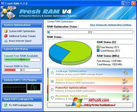 Skjermbilde Fresh RAM Windows 7
