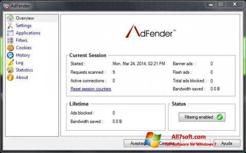 Skjermbilde AdFender Windows 7