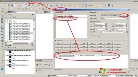 Skjermbilde QGIS Windows 7