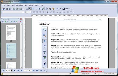 Skjermbilde Infix PDF Editor Windows 7