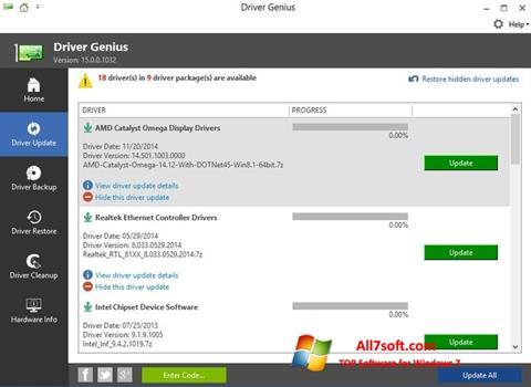 Skjermbilde Driver Genius Windows 7