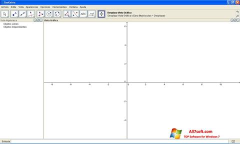 Skjermbilde GeoGebra Windows 7