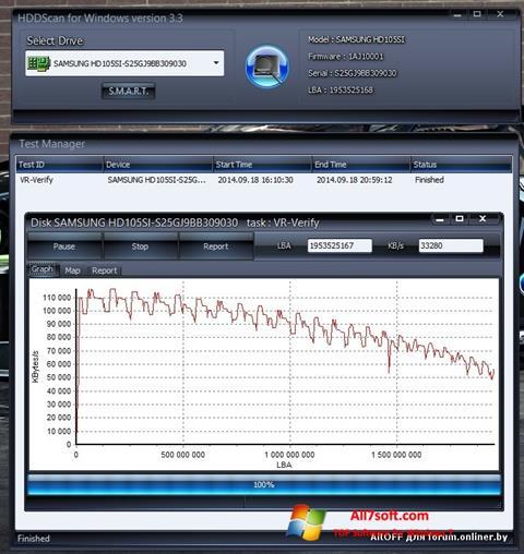 Skjermbilde HDDScan Windows 7