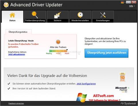 Skjermbilde Advanced Driver Updater Windows 7