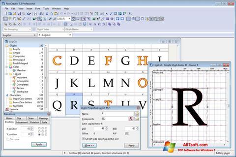 Skjermbilde Font Creator Windows 7