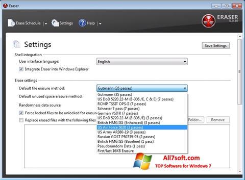 Skjermbilde Fast Folder Eraser Windows 7
