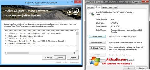 Skjermbilde Intel Chipset Windows 7