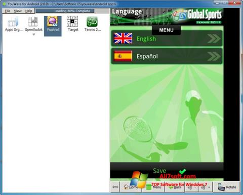 Skjermbilde YouWave Windows 7