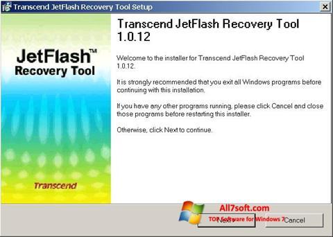 Skjermbilde JetFlash Recovery Tool Windows 7