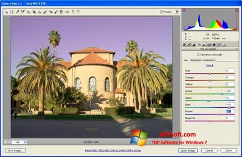 Skjermbilde Adobe Camera Raw Windows 7