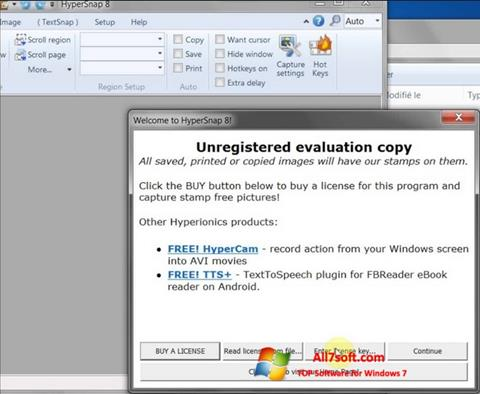 Skjermbilde HyperSnap Windows 7