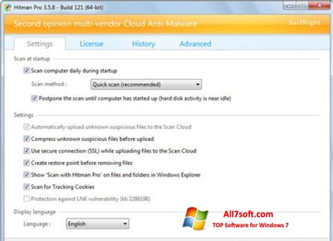 Skjermbilde HitmanPro Windows 7