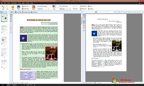 Skjermbilde ABBYY FineReader Windows 7