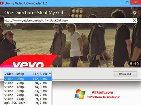 Skjermbilde Ummy Video Downloader Windows 7