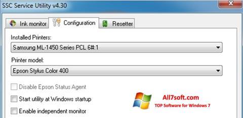 Skjermbilde SSC Service Utility Windows 7
