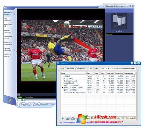 Skjermbilde SopCast Windows 7
