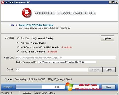 Skjermbilde Youtube Downloader HD Windows 7