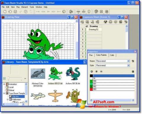 Skjermbilde Toon Boom Studio Windows 7