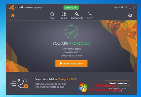 Skjermbilde Avast Internet Security Windows 7