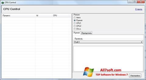 Skjermbilde CPU-Control Windows 7