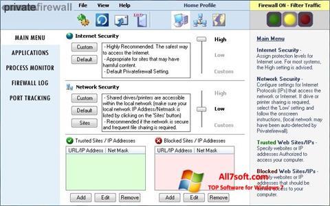 Skjermbilde Privatefirewall Windows 7