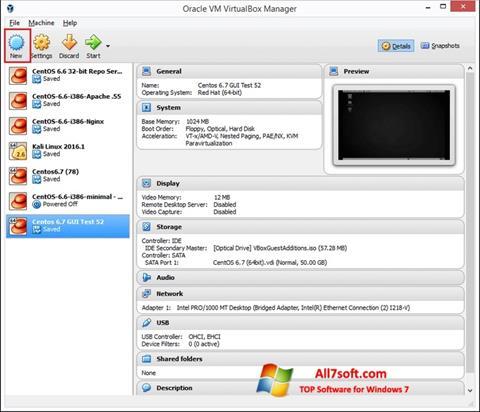 Skjermbilde VirtualBox Windows 7
