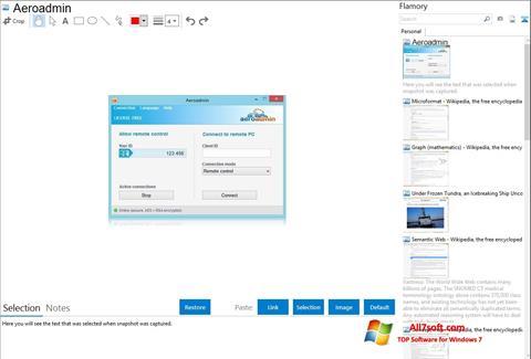 Skjermbilde AeroAdmin Windows 7