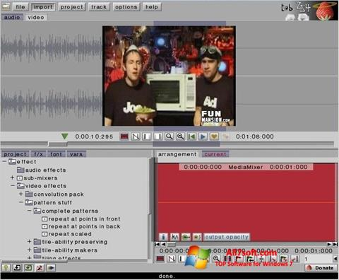 Skjermbilde ZS4 Video Editor Windows 7