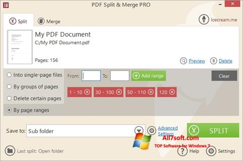 Skjermbilde PDF Split and Merge Windows 7