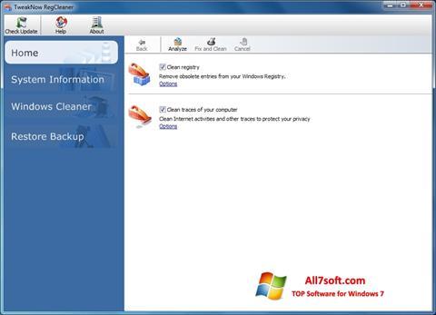 Skjermbilde TweakNow RegCleaner Windows 7