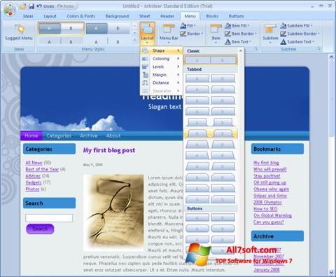 Skjermbilde Artisteer Windows 7