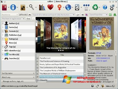 Skjermbilde Calibre Windows 7