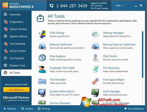 Skjermbilde Auslogics BoostSpeed Windows 7