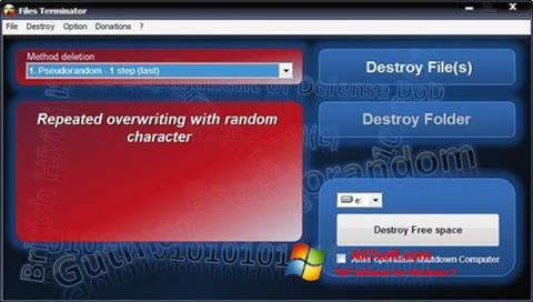 Skjermbilde Files Terminator Windows 7
