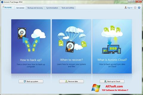 Skjermbilde Acronis True Image Windows 7